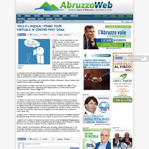 Screenshot Abruzzo web